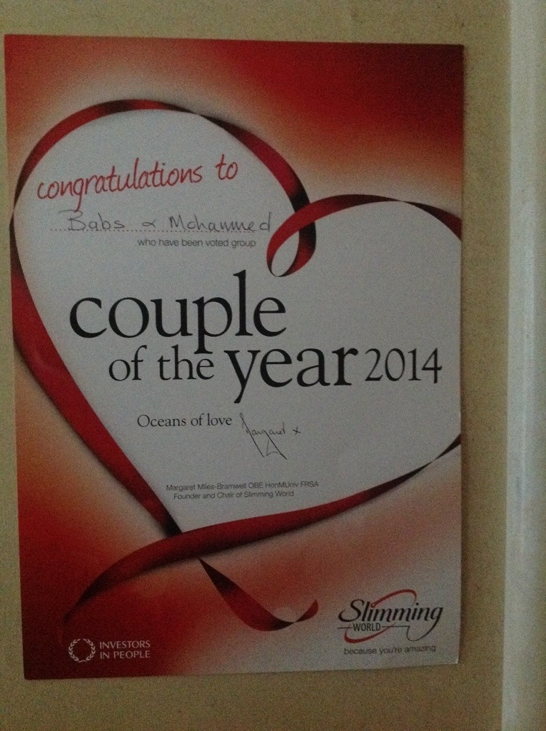 Slimming World Couple of the Year 2014 – Ajoobacats Blog