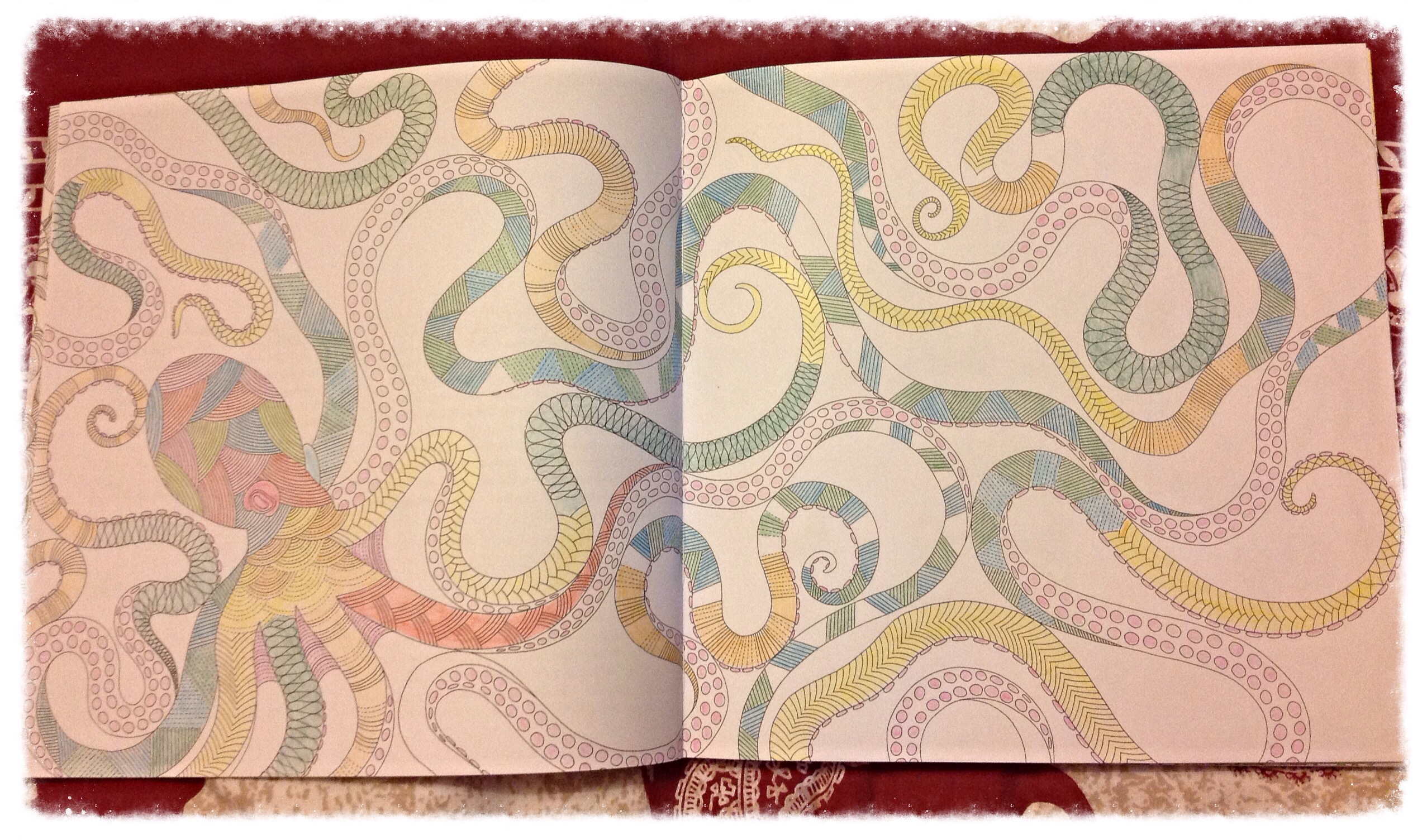 The Paper Used To Make This Colouring Book Is Thick And Of Good Quality So Using Felt Tip Pens Fine As There No Bleed Through Page Onto Another