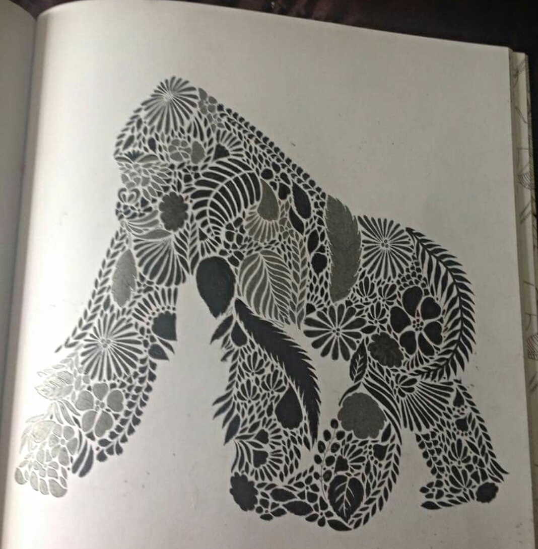 87 Animal Kingdom Coloring Book Gorilla